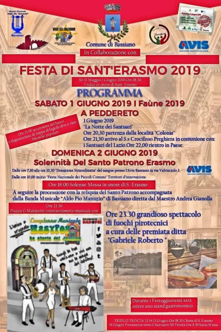 Bassiano: Festa di Sant'Erasmo @ centro storico | Bassiano | Lazio | Italia