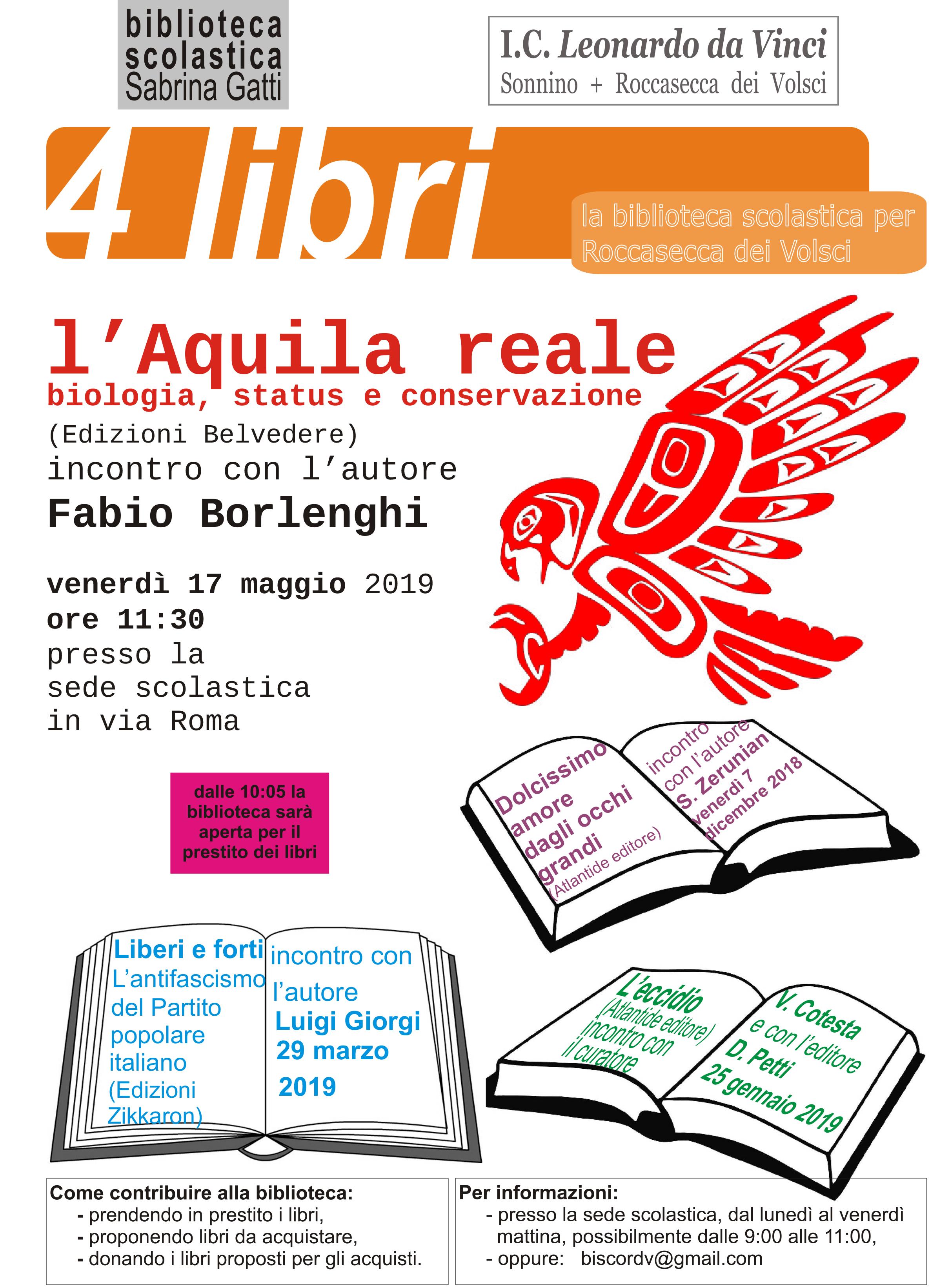 Roccasecca dei Volsci: L'Aquila reale - biologia, status e conservazione @ Scuola media I.C. Leonardo Da Vinci | Roccasecca dei Volsci | Lazio | Italia