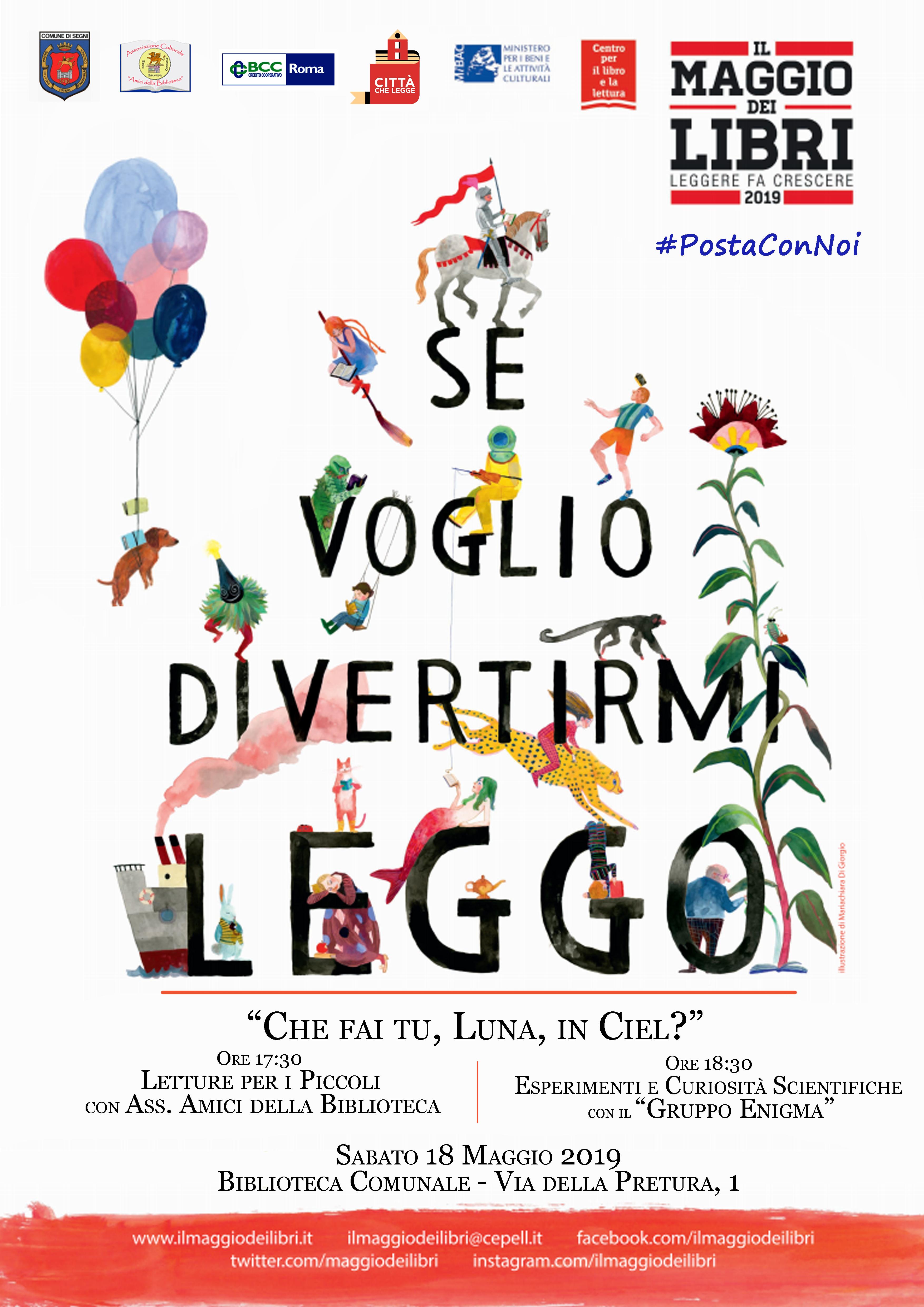 Segni: Se voglio divertirmi leggo @ biblioteca comunale | Lazio | Italia