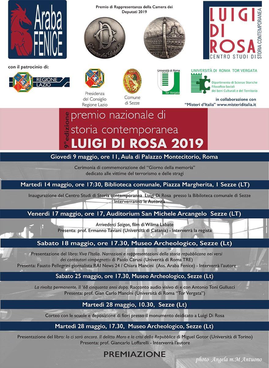 Sezze: 9° edizione Premio nazionale di storia contemporanea Luigi Di Rosa @ Museo-Biblioteca-Auditorium | Sezze | Lazio | Italia