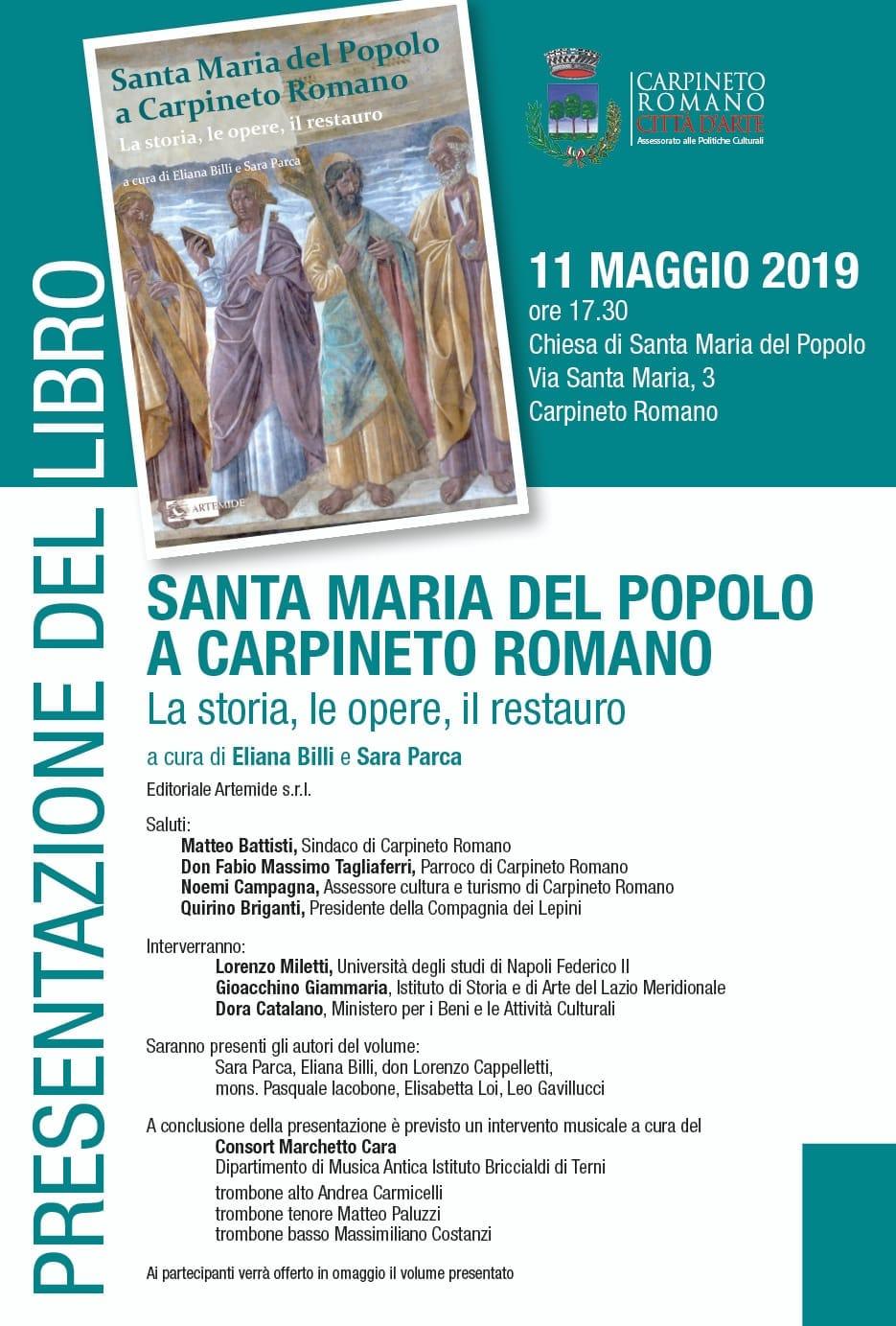 Carpineto Romano: Presentazione libro @ Chiesa di Santa Maria del popolo | Carpineto Romano | Lazio | Italia