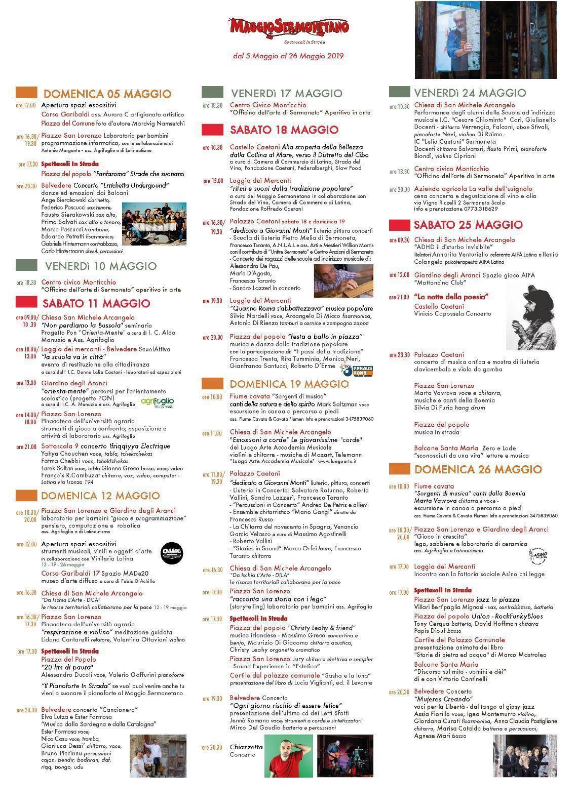 Sermoneta: Maggio Sermonetano @ Per le vie del paese | Sermoneta | Lazio | Italia