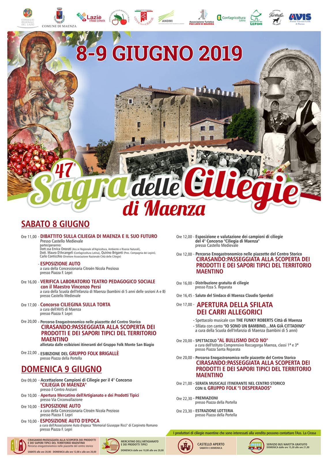 Maenza: 47° Sagra delle ciliegie @ per le vie del paese | Maenza | Lazio | Italia