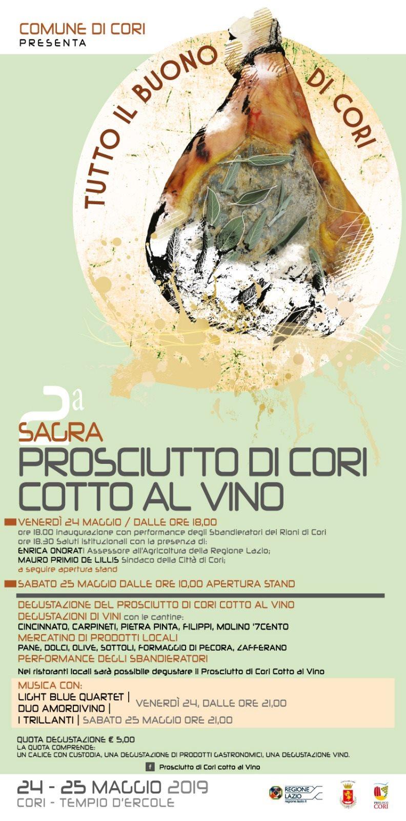 Cori: Sagra del prosciutto cotto al vino @ Tempio d'Ercole | Cori | Lazio | Italia