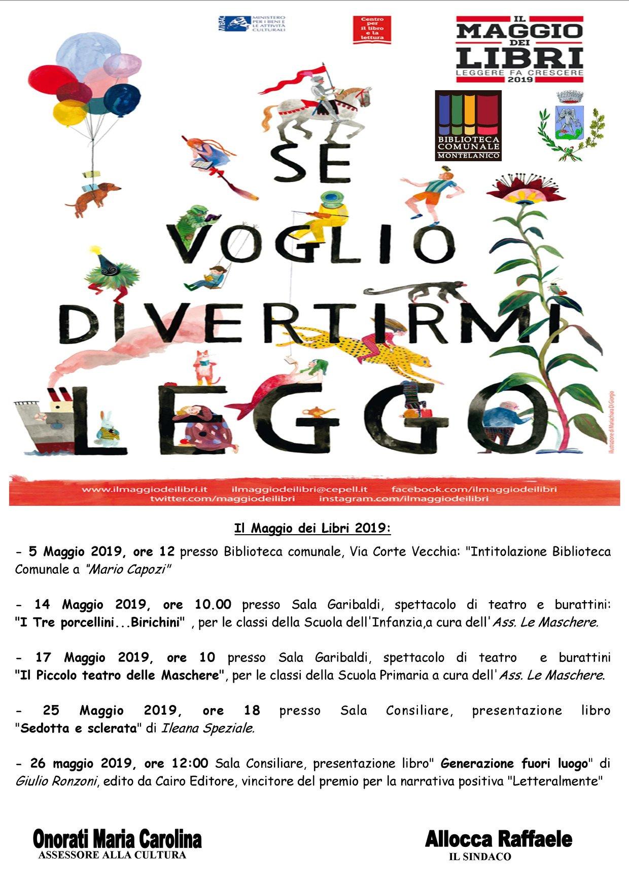 Montelanico: Se voglio divertirmi leggo @ sala Garibaldi - Sala consiliare  | Montelanico | Lazio | Italia