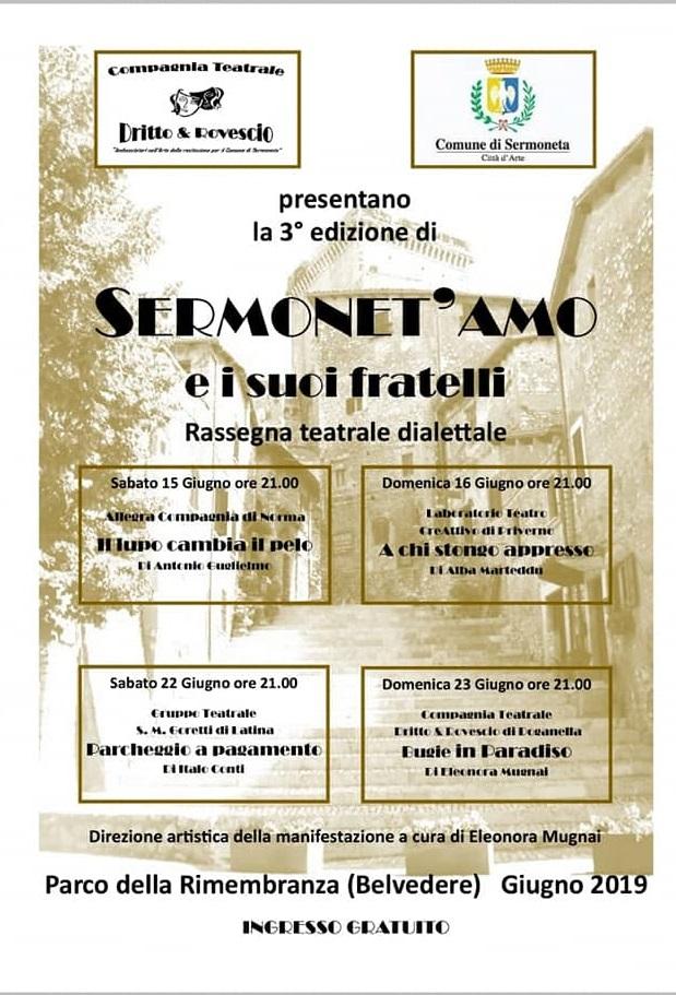 Sermoneta: Rassegna teatrale dialettale @ Parco della rimembranza  | Sermoneta | Lazio | Italia