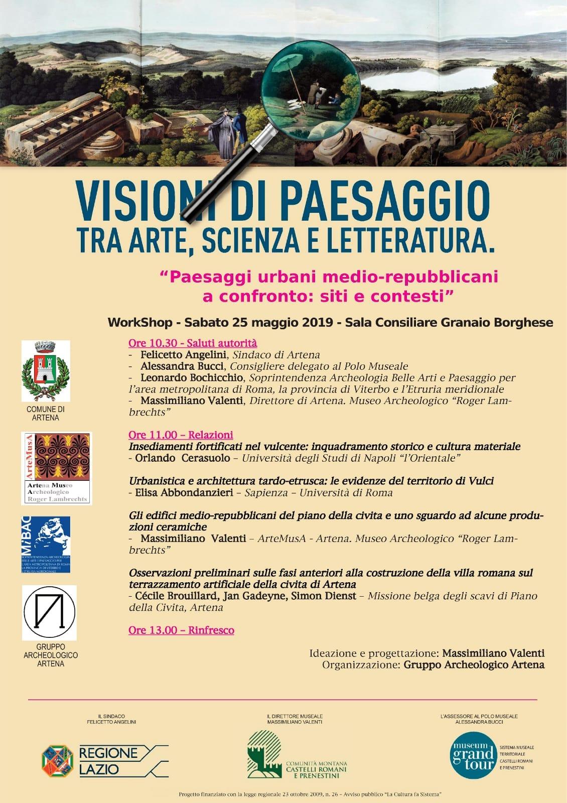 Artena: Visioni di paesaggio tra arte, scienza e letteratura. @ Sala consiliare Granaio Borghese | Artena | Lazio | Italia