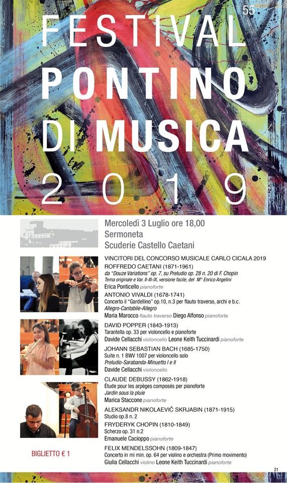 Sermoneta: Festival Pontino di Musica 2019 @ Scuderie Castello Caetani | Sermoneta | Lazio | Italia