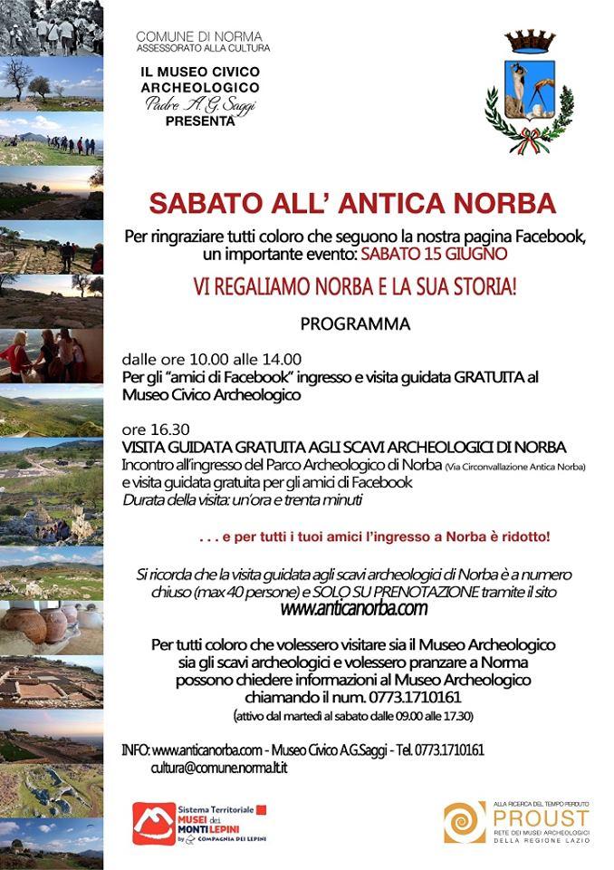 Norma: Il sabato all'Antica Norba @ Museo civico archeologico | Norma | Lazio | Italia