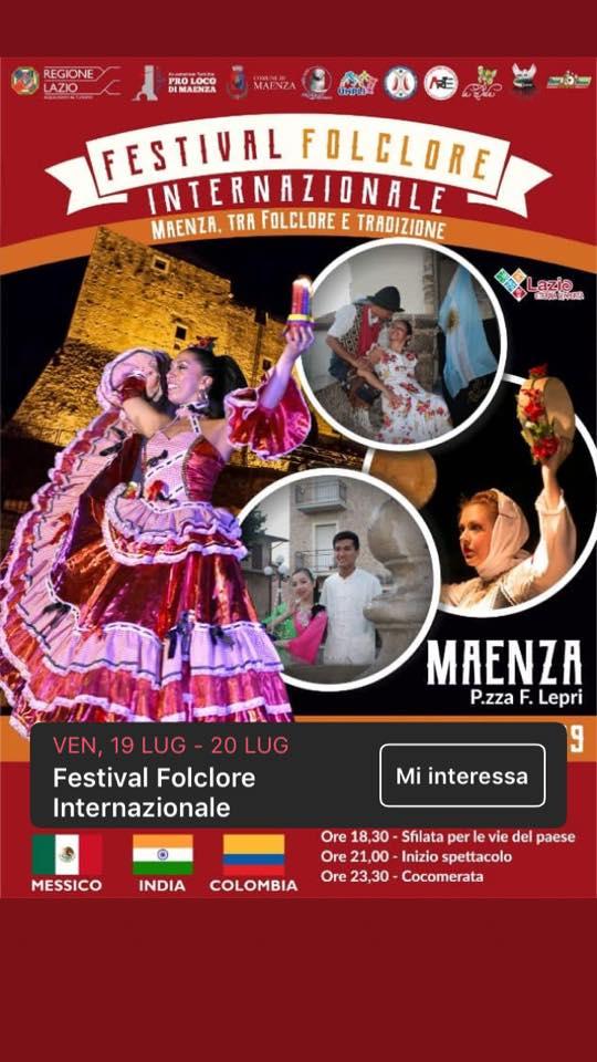 Maenza: Festival del folclore internazionale @ per le vie del paese | Maenza | Lazio | Italia