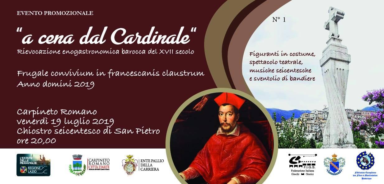 Carpineto Romano: A cena dal Cardinale @ Chiostro di San Pietro | Carpineto Romano | Lazio | Italia