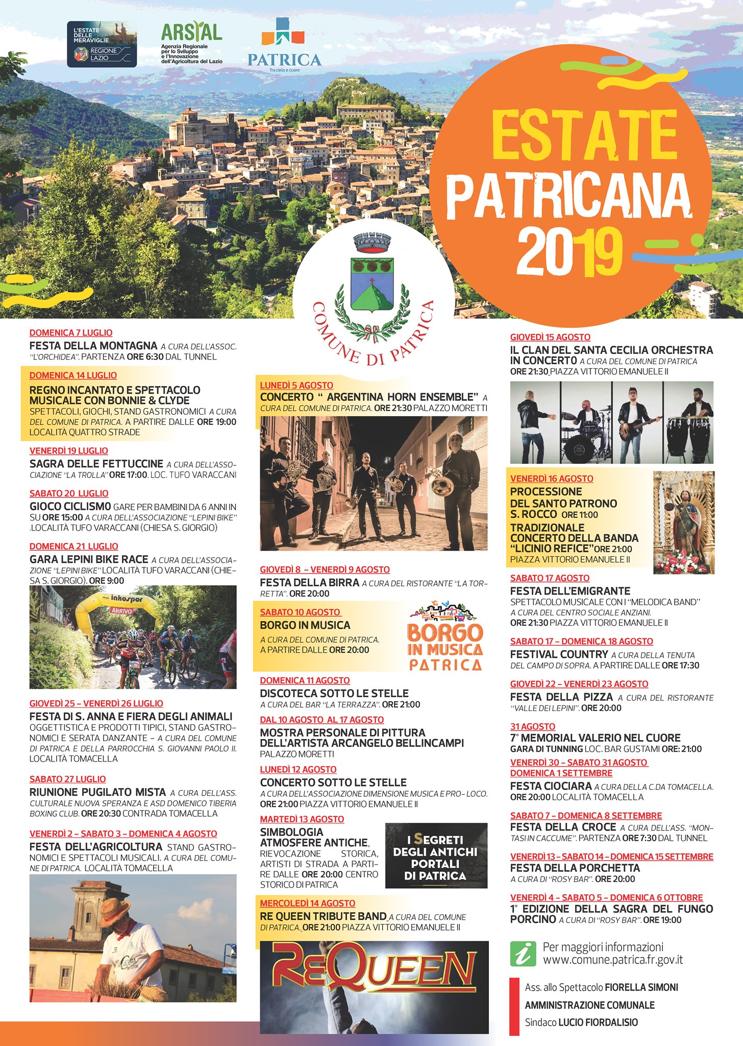 Patrica: Estate patricana 2019 @ paese | Patrica | Lazio | Italia