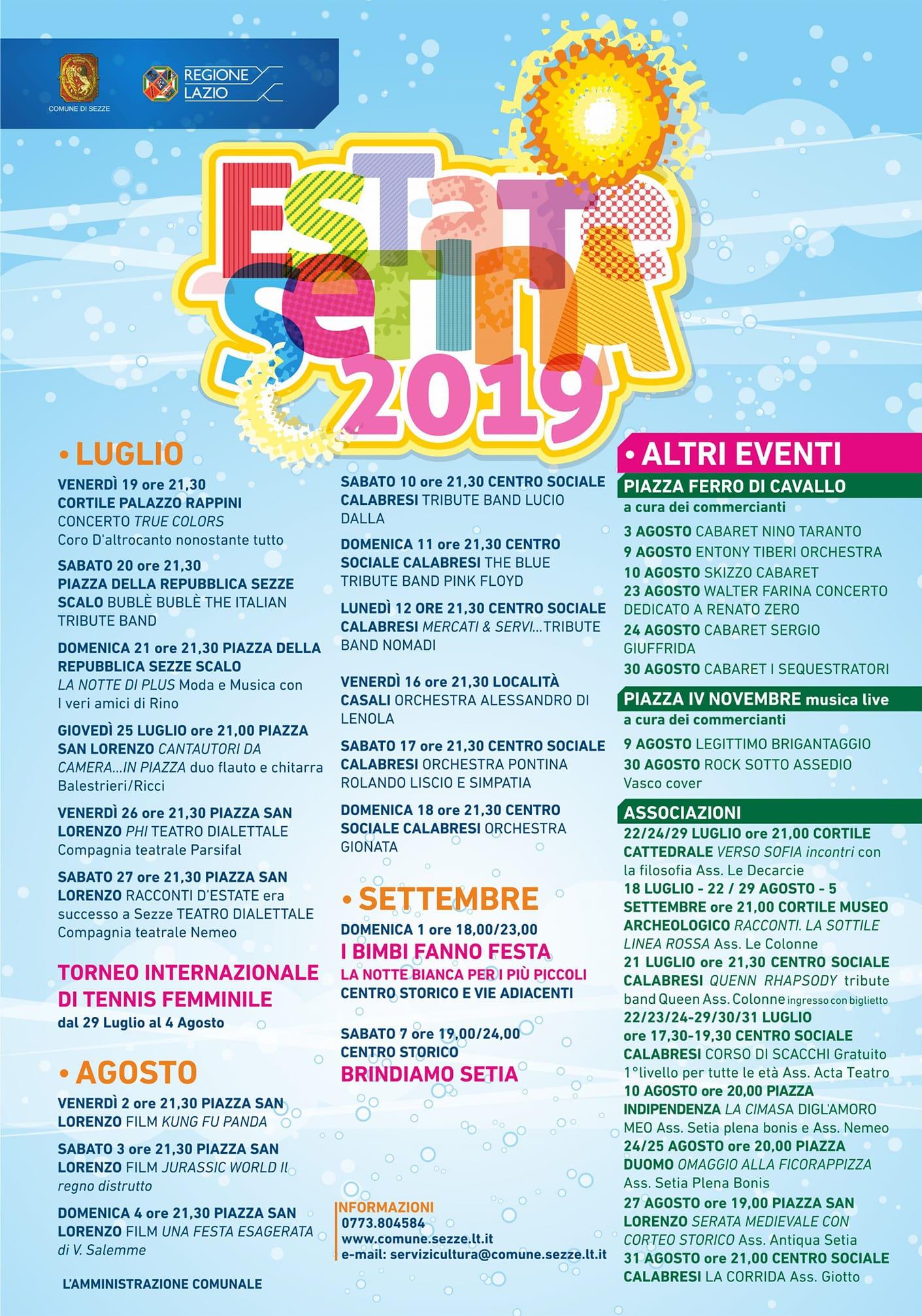 Sezze: Estate setina 2019 @ paese | Sezze | Lazio | Italia