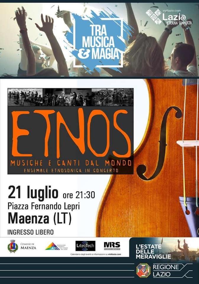 Maenza: Etnos musiche e canti dal mondo