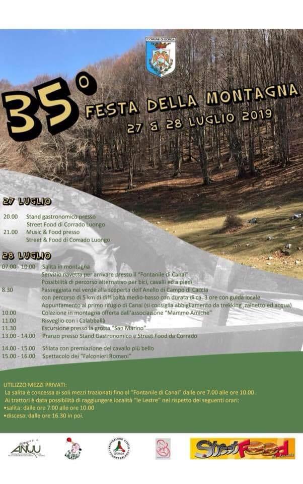 Gorga: Festa della montagna @ paese / montagna | Gorga | Lazio | Italia