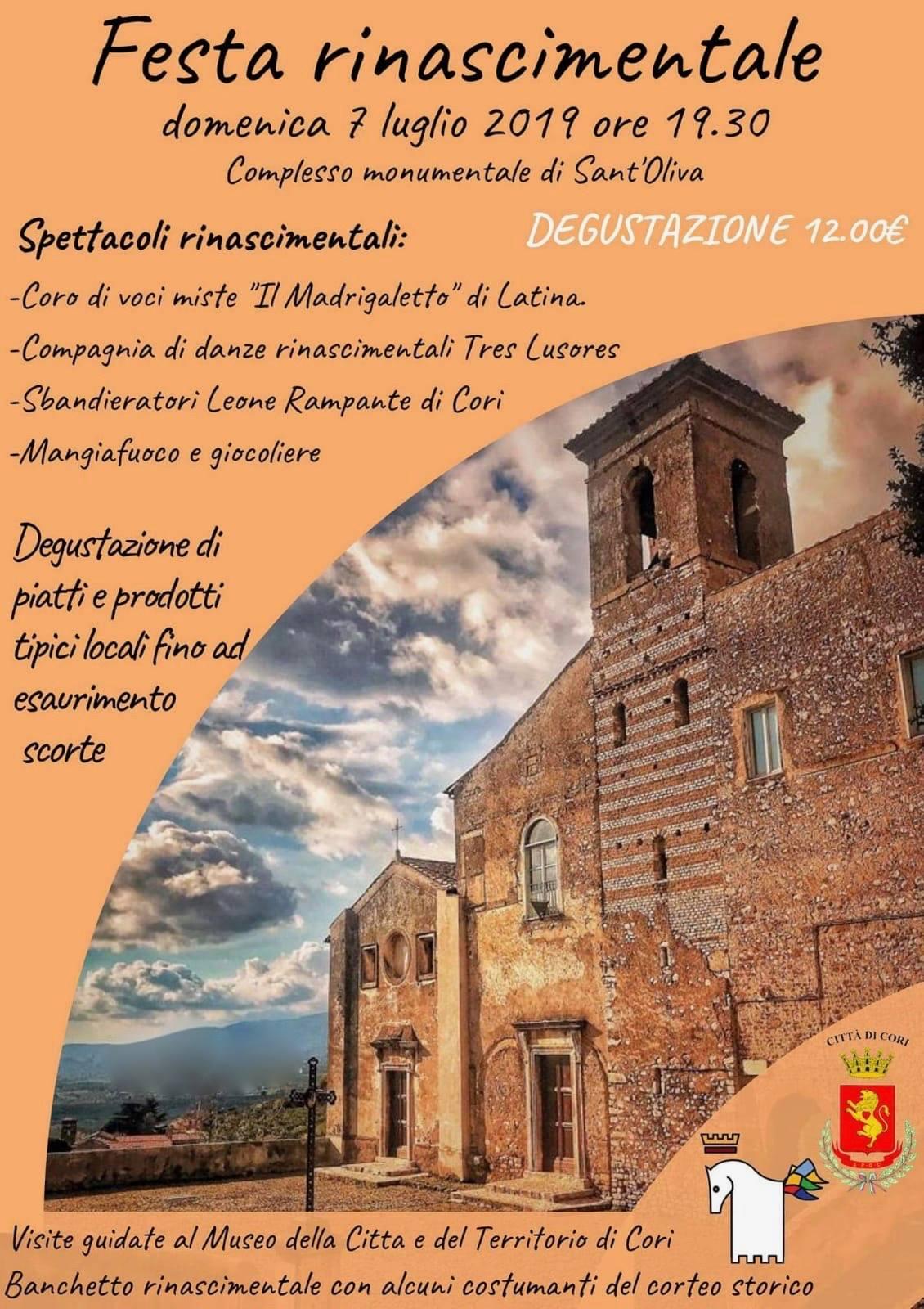 Cori: Festa rinascimentale @ complesso monumentale di Sant'oliva | Cori | Lazio | Italia