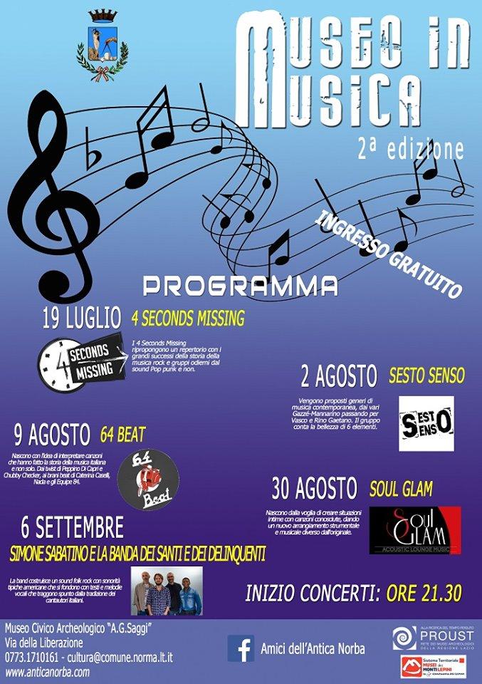 Norma: Museo in musica @ Museo civico archeologico A. G. Saggi | Norma | Lazio | Italia