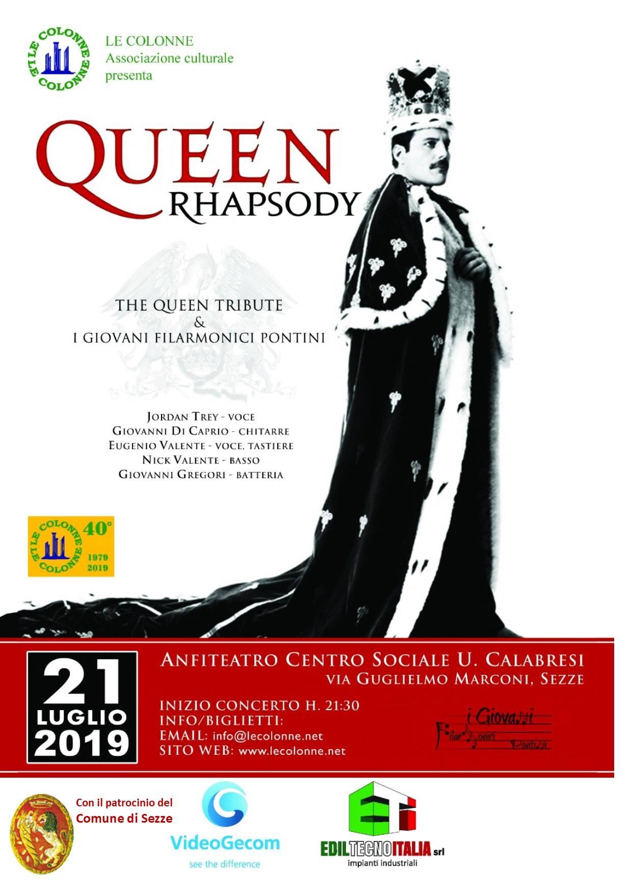 Sezze: Queen Rhapsody @ Centro sociale U. Calabresi | Sezze | Lazio | Italia