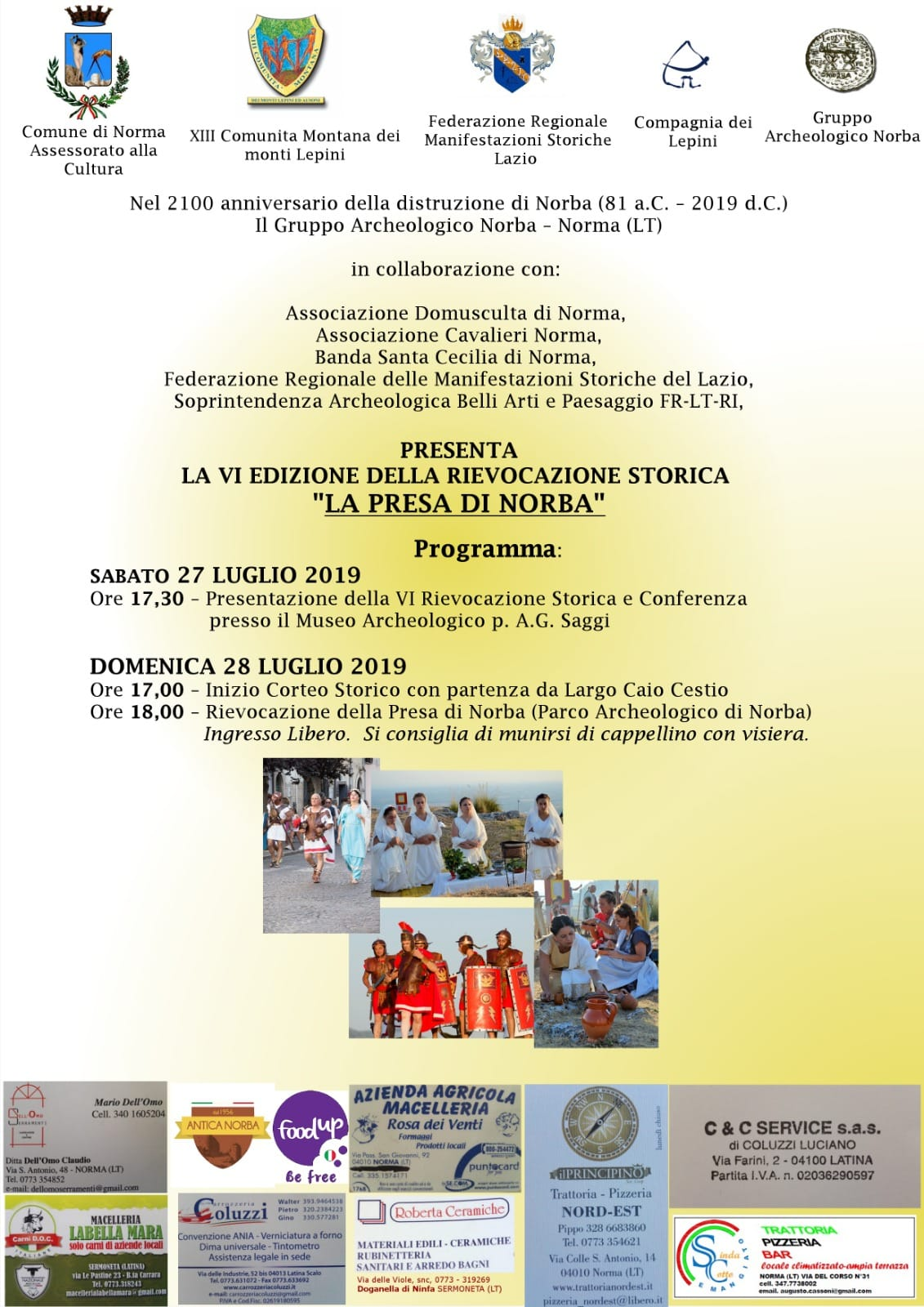 Norma: VI edizione della rievocazione storica @ Parco archeologico antica Norba | Norma | Lazio | Italia
