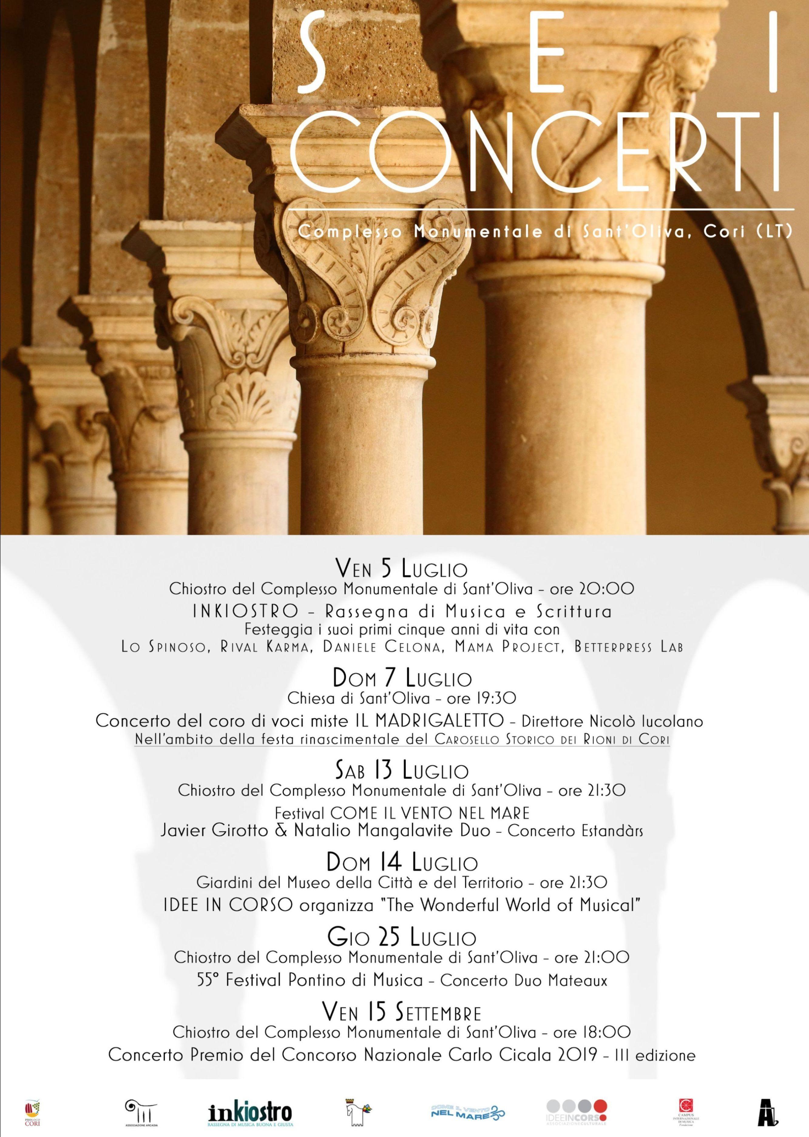 Cori: Sei concerti @ Complesso monumentale di Sant'Oliva | Cori | Lazio | Italia