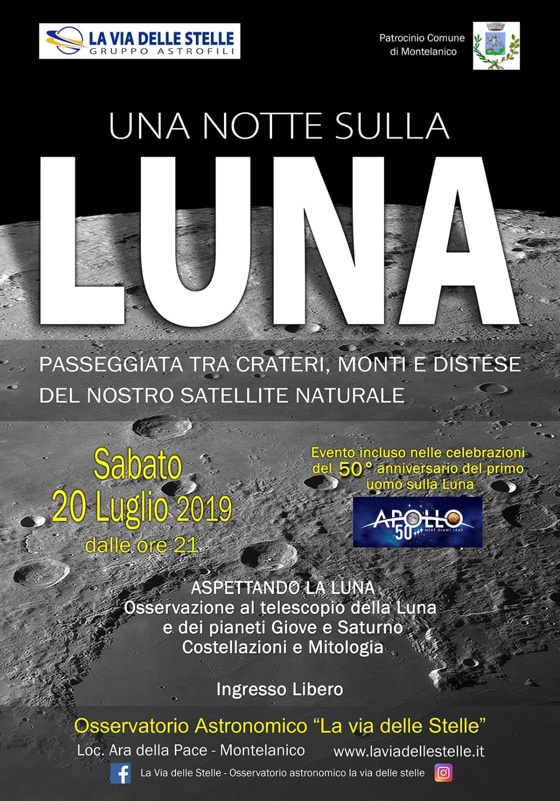 Montelanico: Una notte sulla Luna @ osservatorio astronomico | Montelanico | Lazio | Italia
