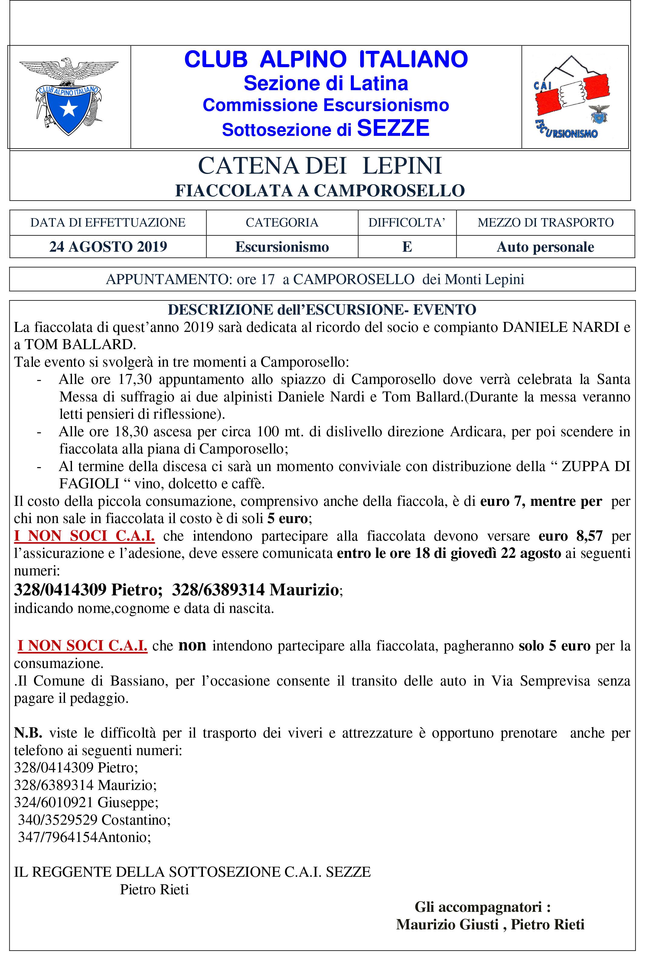Sezze: Fiaccolata a Camporosello @ Camporosello | Sezze | Lazio | Italia