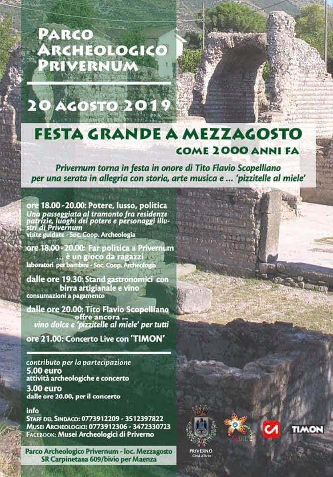 Priverno: Festa grande a Mezzagosto come 2000 anni fa @ Parco archeologico Privernum  | Priverno | Lazio | Italia