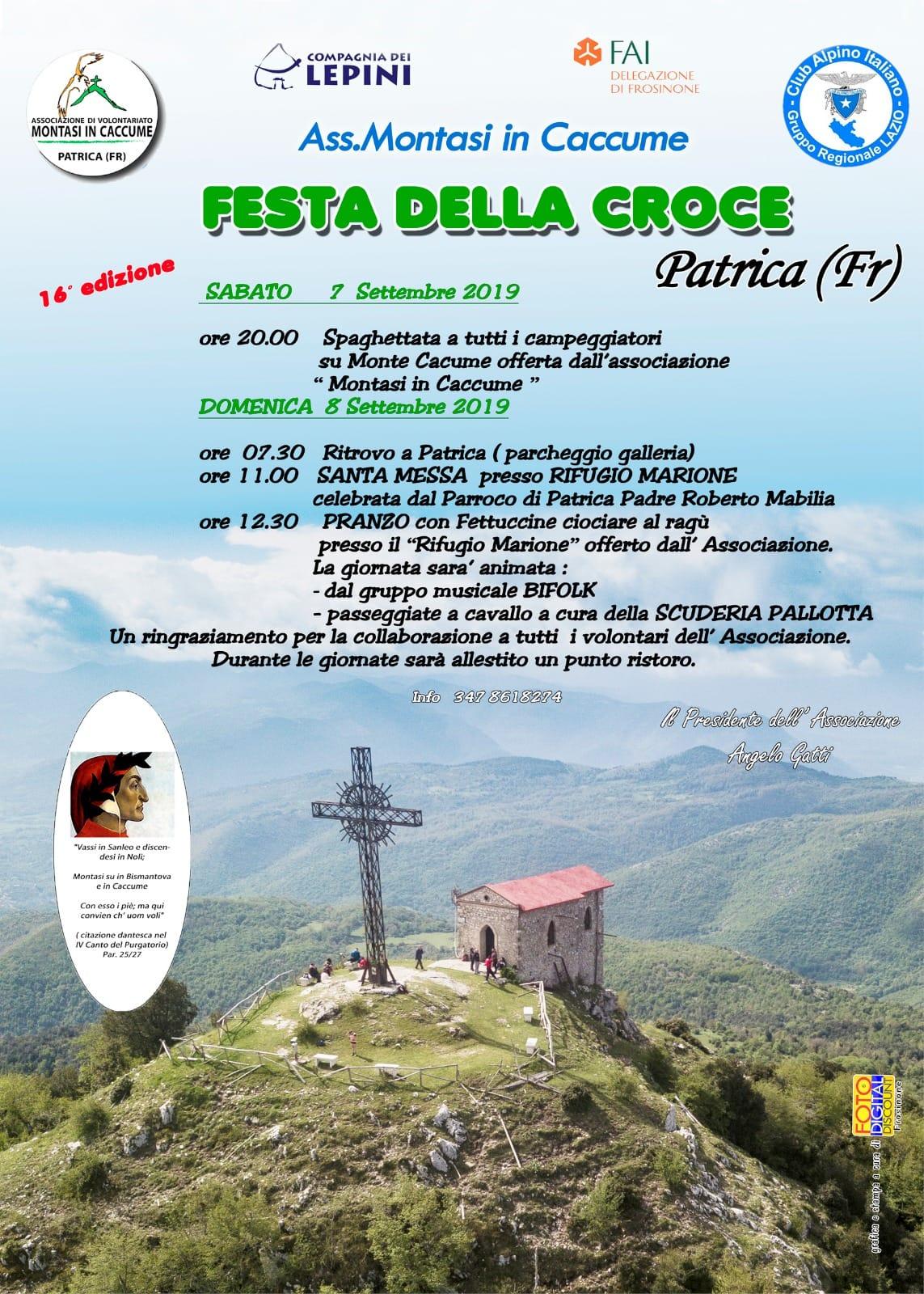 Patrica: Festa della croce @ Monte Caccume | Patrica | Lazio | Italia