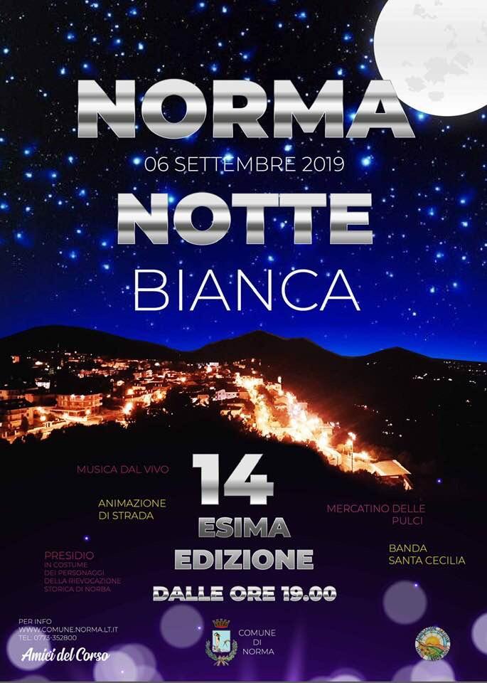 Norma: Notte Bianca @ Per le vie del paese | Norma | Lazio | Italia