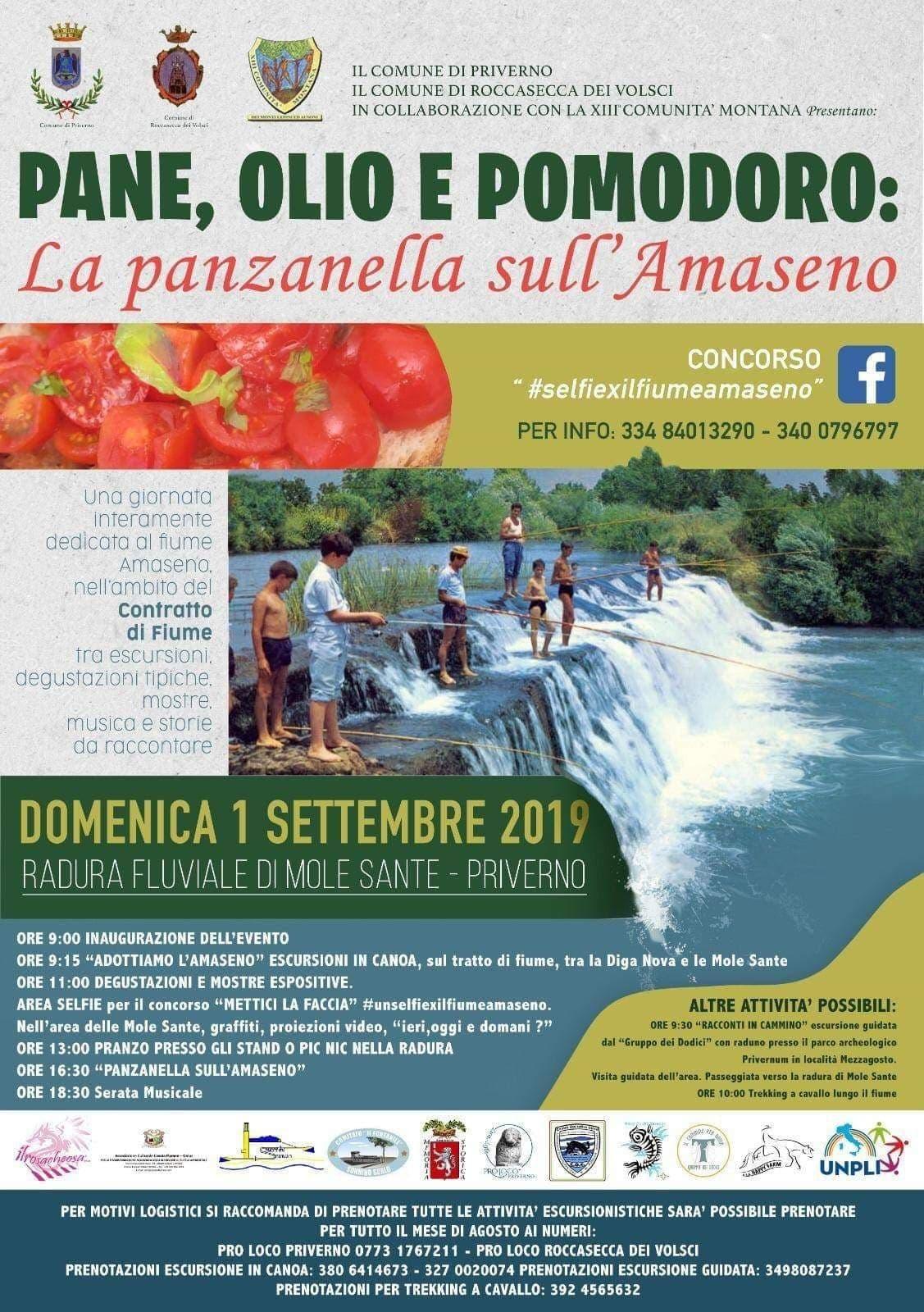 Priverno: Pane, olio e pomodoro. La panzanella sull'Amaseno @ radura fluviale di mole sante | Priverno | Lazio | Italia
