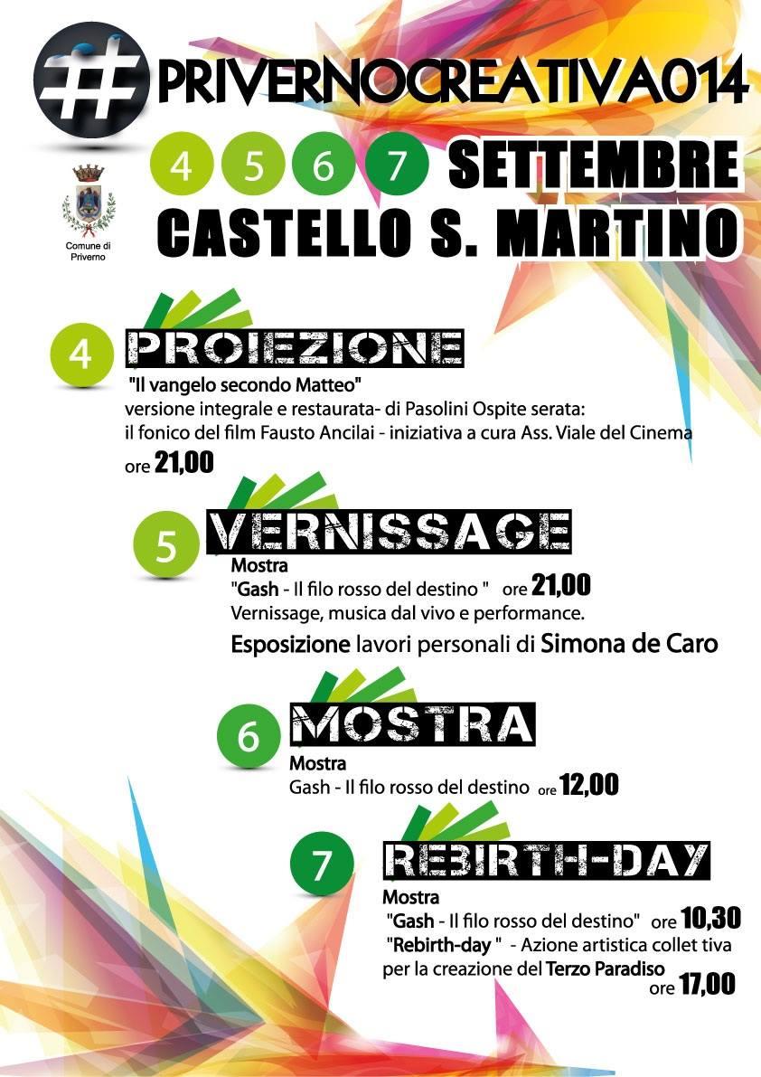 Priverno: #Privernocreativa014 @ Castello S. Martino | Priverno | Lazio | Italia