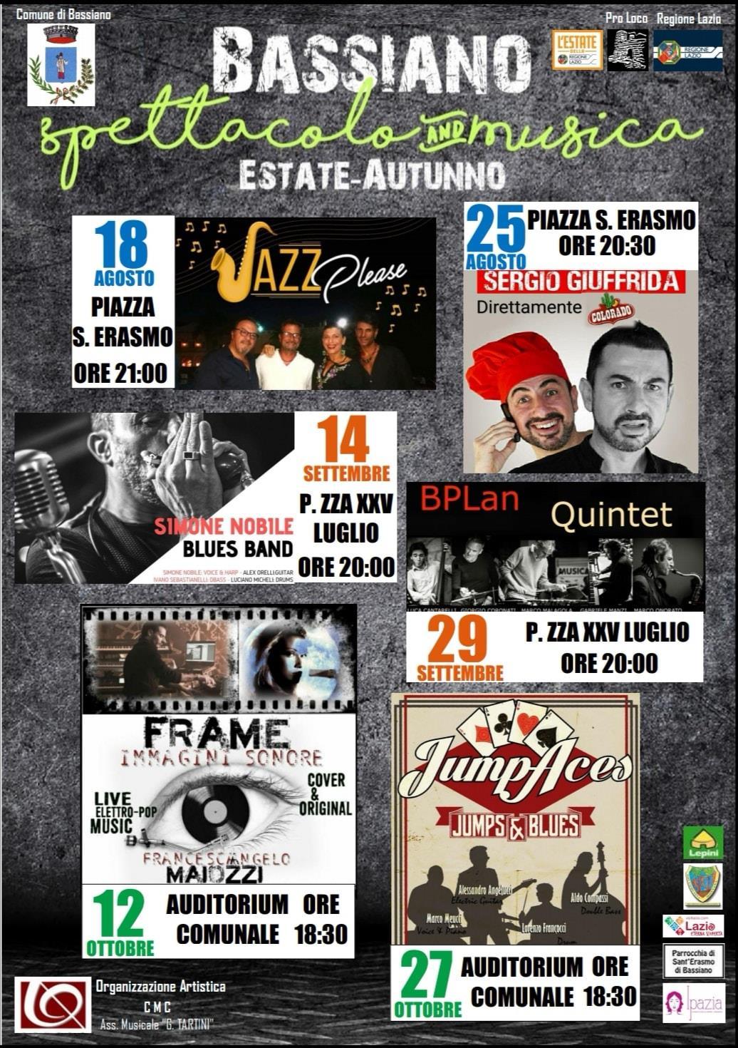 Bassiano: Spettacolo & Musica @ Bassiano | Lazio | Italia
