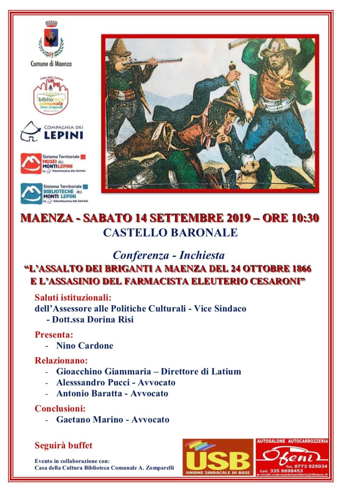 Maenza: Conferenza - Inchiesta @ Castello baronale | Maenza | Lazio | Italia