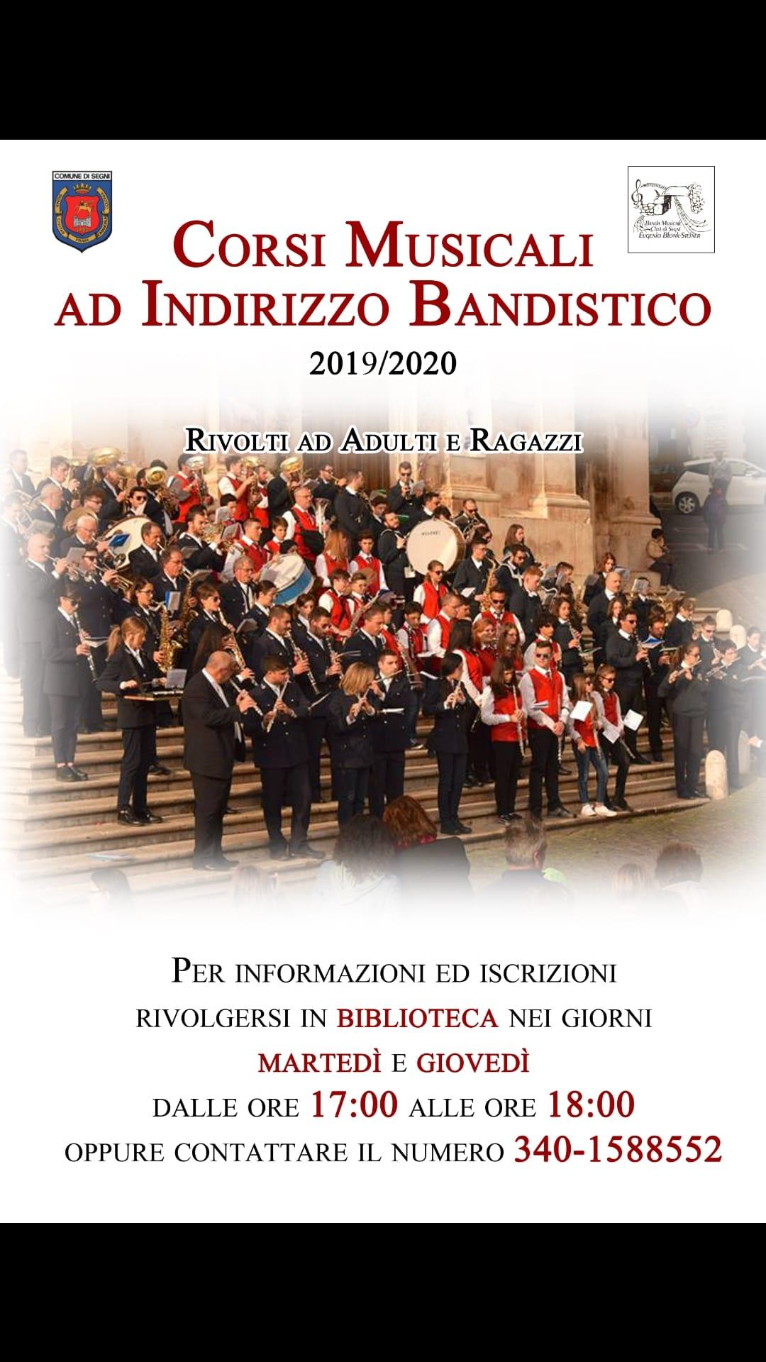 Segni: Corsi musicali ad indirizzo bandistico @ Biblioteca  | Lazio | Italia