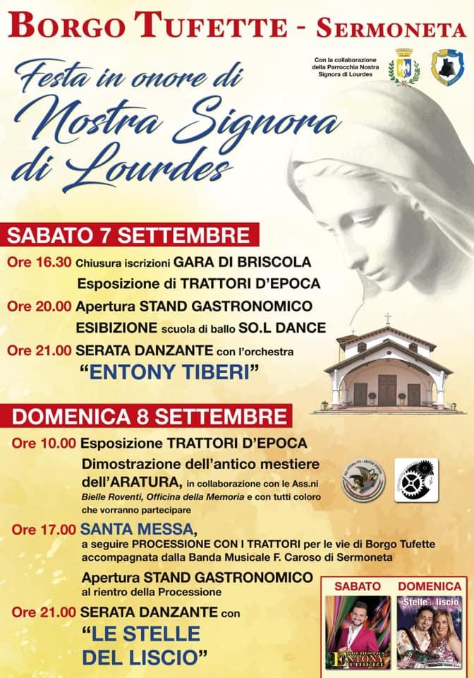 Sermoneta: Festa in onore di Nostra Signora di Lourdes @ borgo tufette | Sermoneta | Lazio | Italia