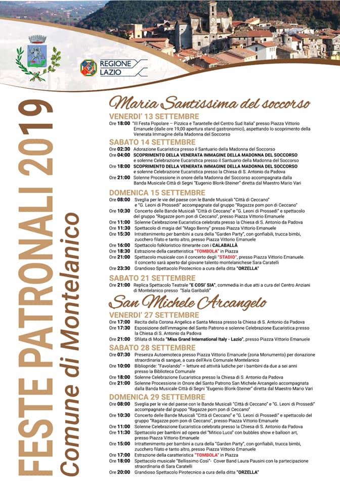 Montelanico: Feste patronali 2019 @ per le vie del paese | Montelanico | Lazio | Italia