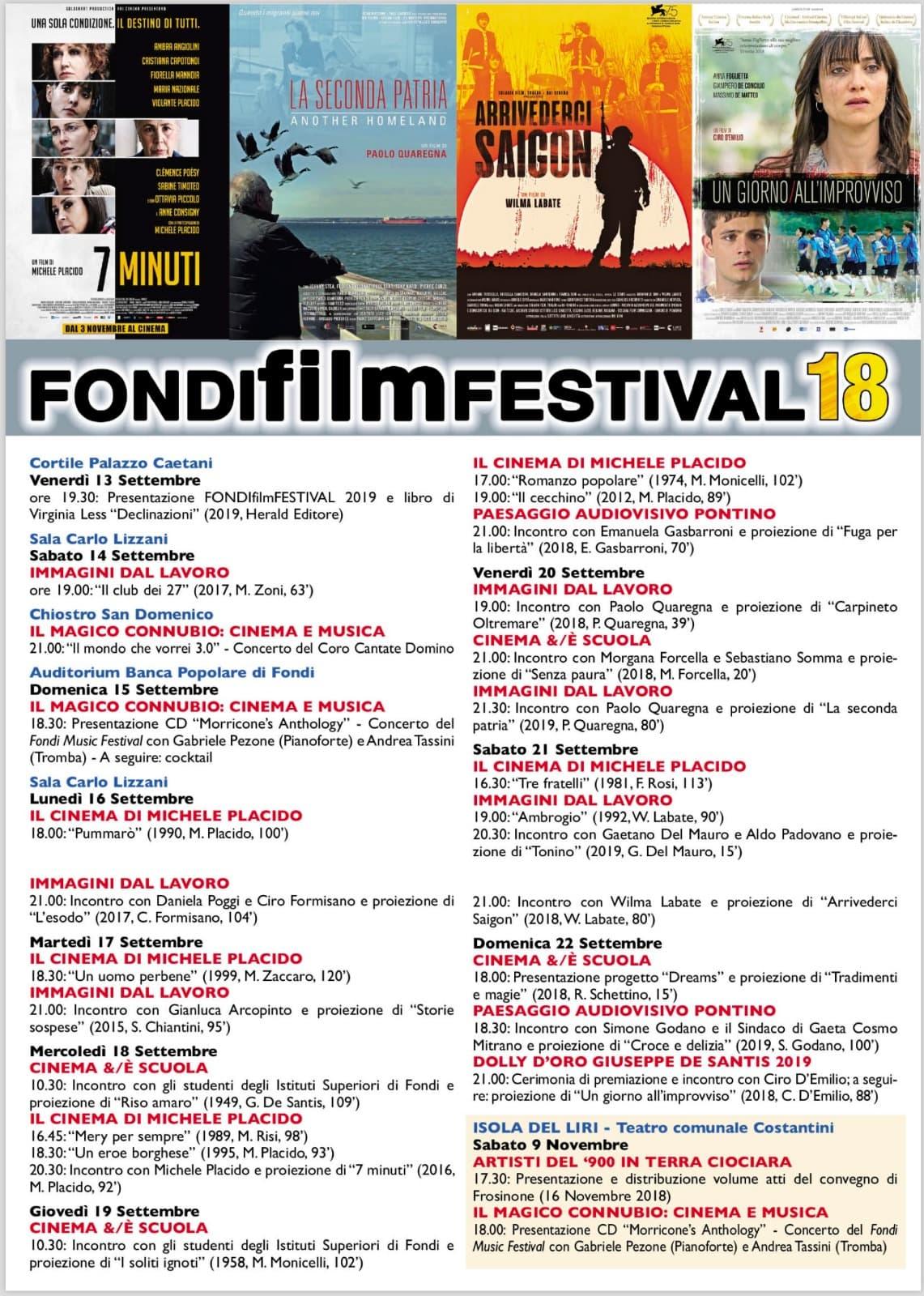 Fondifilm Festival 18 @ Sala Carlo Lizzani | Fondi | Lazio | Italia