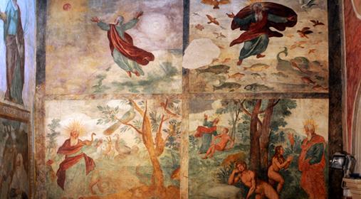 Sezze - Affresco il Giudizio finale , chiesa Santa Lucia