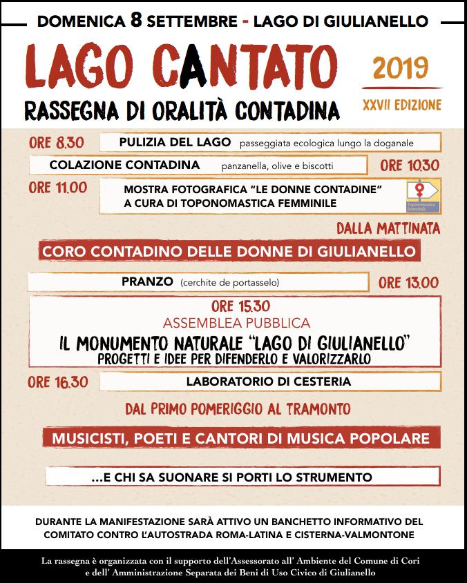 Lago Giulianello: Lago cantato @ lago giulianello | Cori | Lazio | Italia