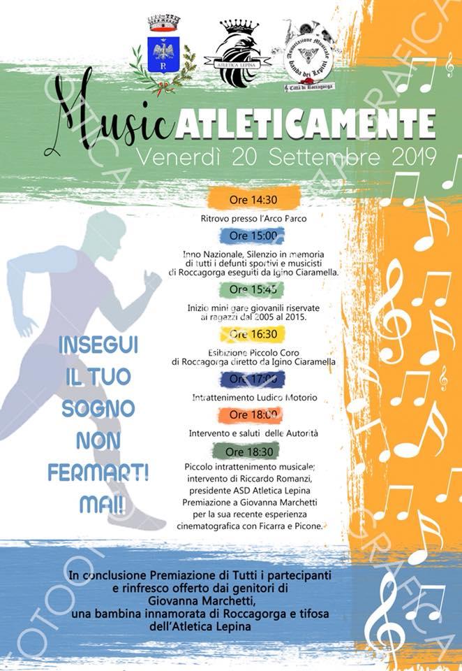 Roccagorga: MusicAtleticamente @ Arco Parco | Roccagorga | Lazio | Italia