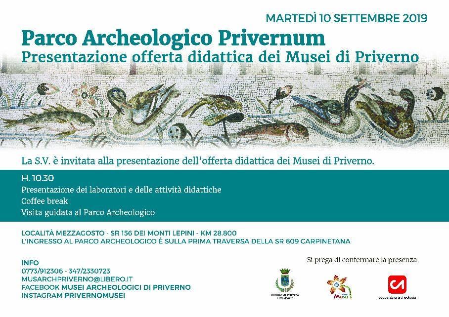 Priverno: Presentazione offerta didattica dei Musei di Priverno @ Località Mezzagosto | Priverno | Lazio | Italia