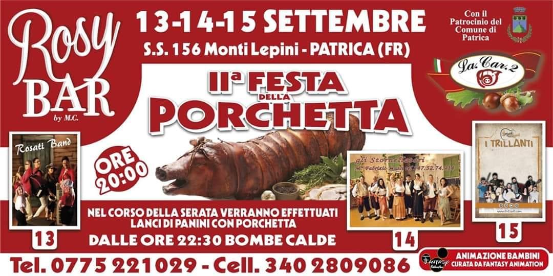 Patrica: II° Festa della porchetta @ Ss 156 MONTI LEPINI | Patrica | Lazio | Italia