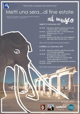Colleferro: Giornate Europee del Patrimonio @ Museo Archeologico Comunale del Territorio Toleriense | Lazio | Italia