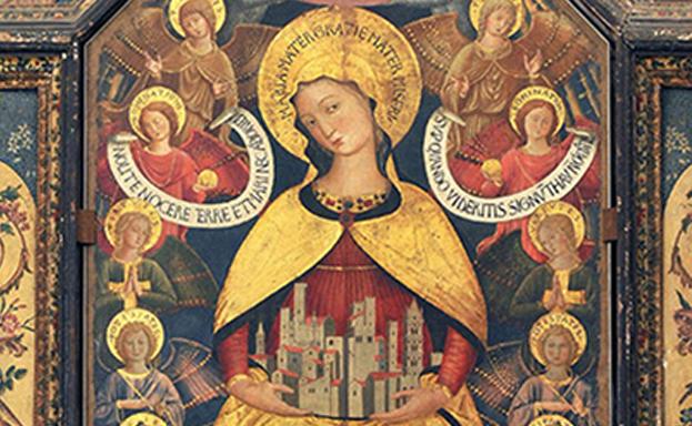 Sermoneta -  Madonna degli Angeli, di Benozzo Gozzili 1457