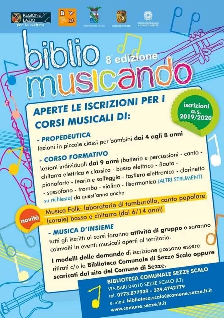 Sezze: 8° edizione di Bibliomusicando @ Biblioteca comunale  | Sezze Scalo | Lazio | Italia