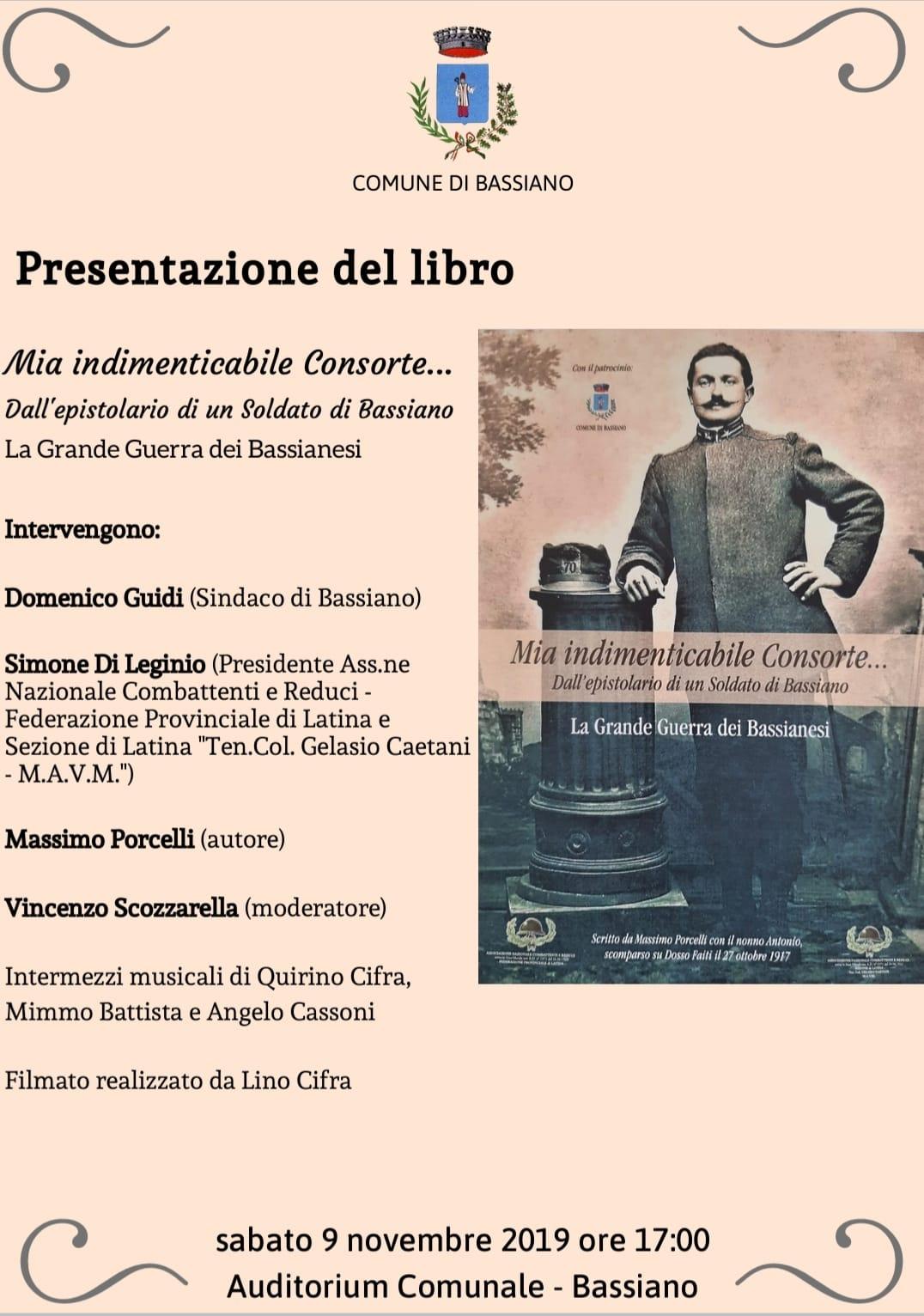 Bassiano: Presentazione del libro @ Auditorium comunale | Bassiano | Lazio | Italia