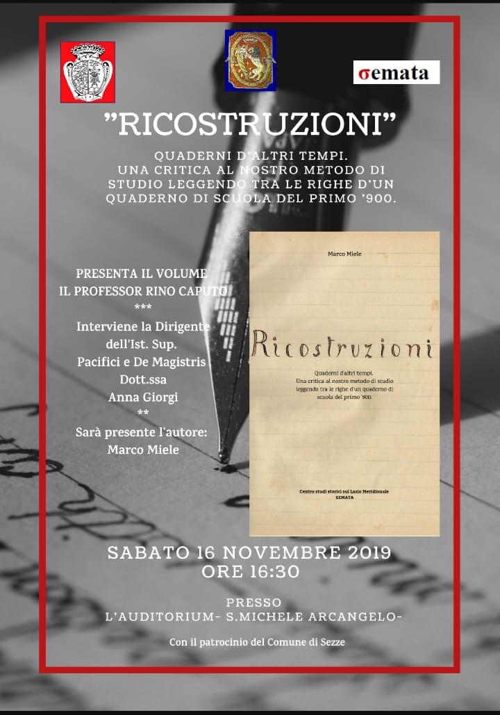 Sezze: Presentazione libro @ auditorium S. Michele Arcangelo | Sezze | Lazio | Italia