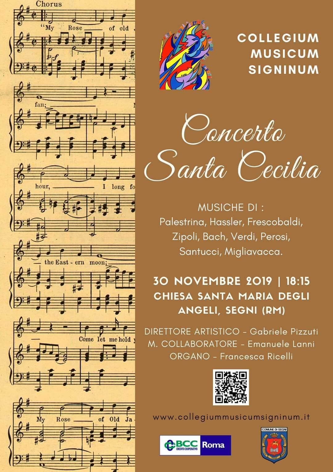 Segni: Concerto Santa Cecilia @ Chiesa di Santa Maria degli angeli   Lazio   Italia