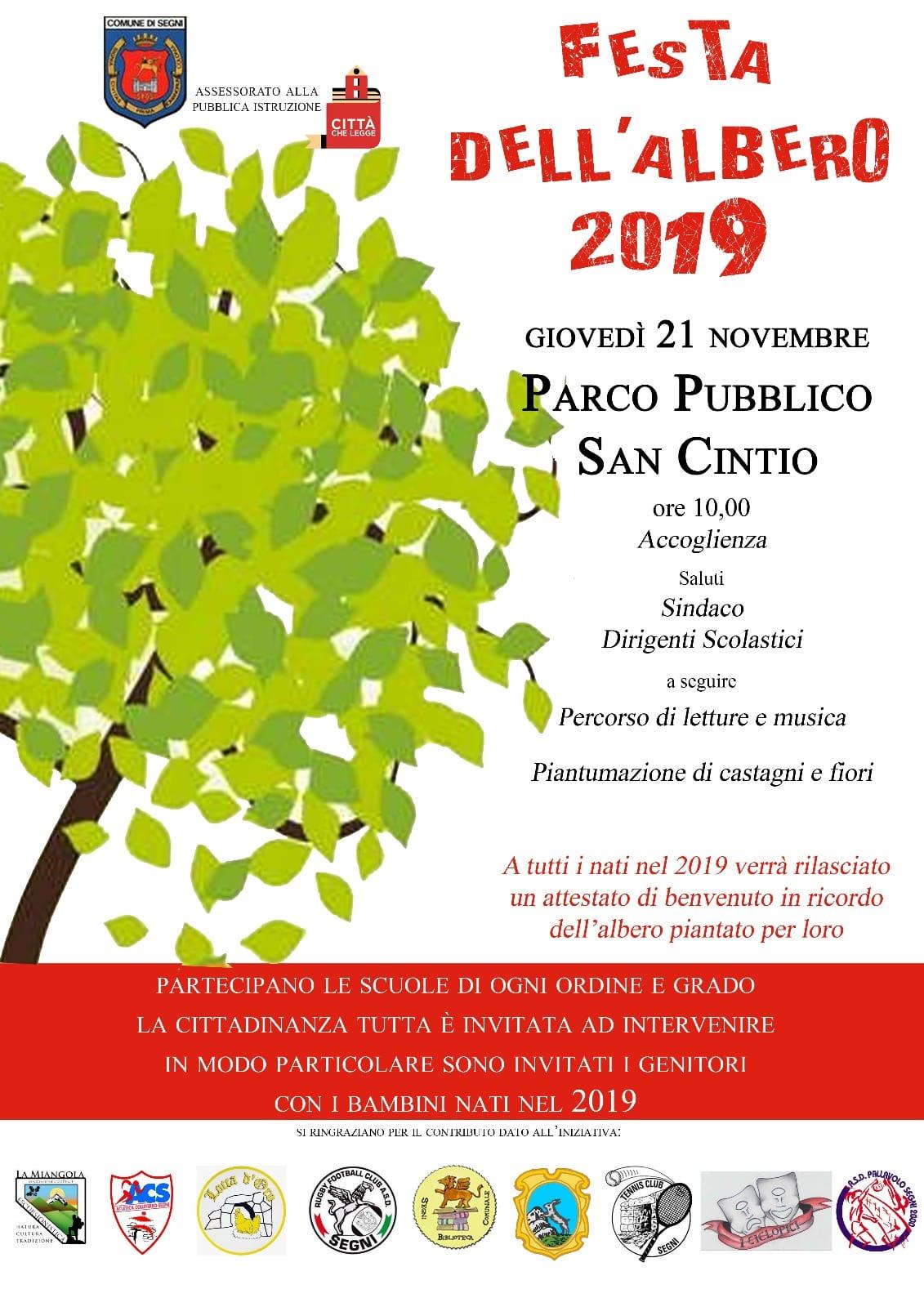 Segni: Festa dell'albero 2019 @ Parco pubblico   Lazio   Italia