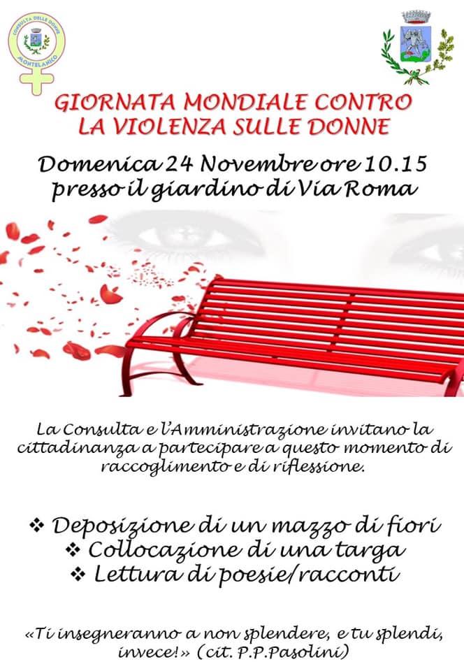 Montelanico: Giornata mondiale contro la violenza sulle donne @ via roma  | Montelanico | Lazio | Italia